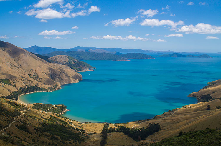 Above Titirangi Bay, Marlborough Sounds, New Zealand