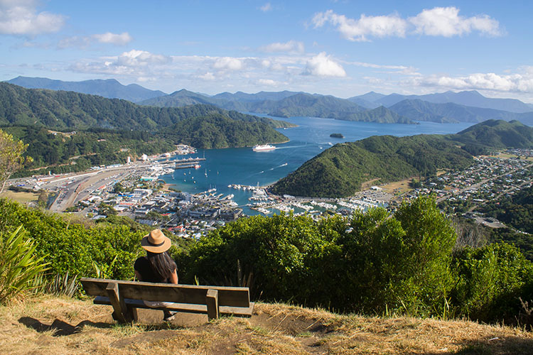 The Tirohanga Track -- the best view of Picton and Queen Charlotte Sound, New Zealand