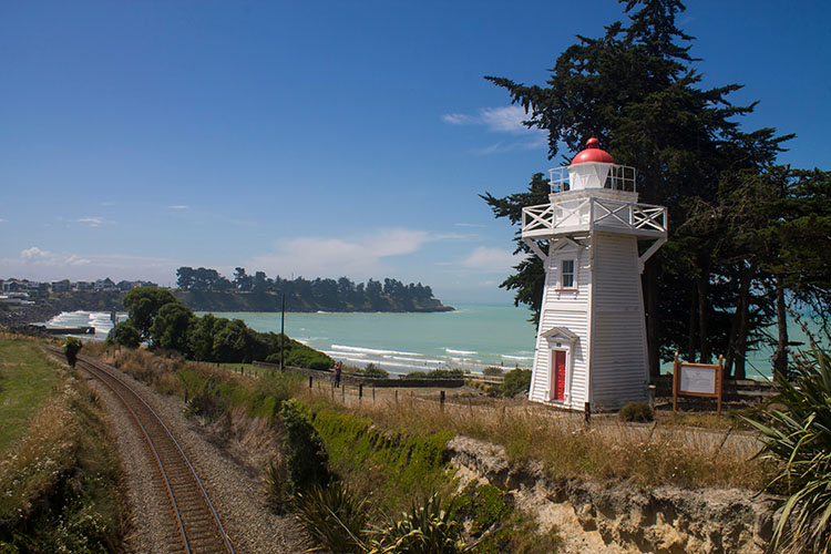 Caroline Bay lighthouse, Timaru, New Zealand