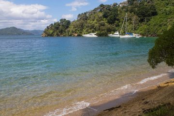 Governors Bay beach, Marlborough Sounds, New Zealand