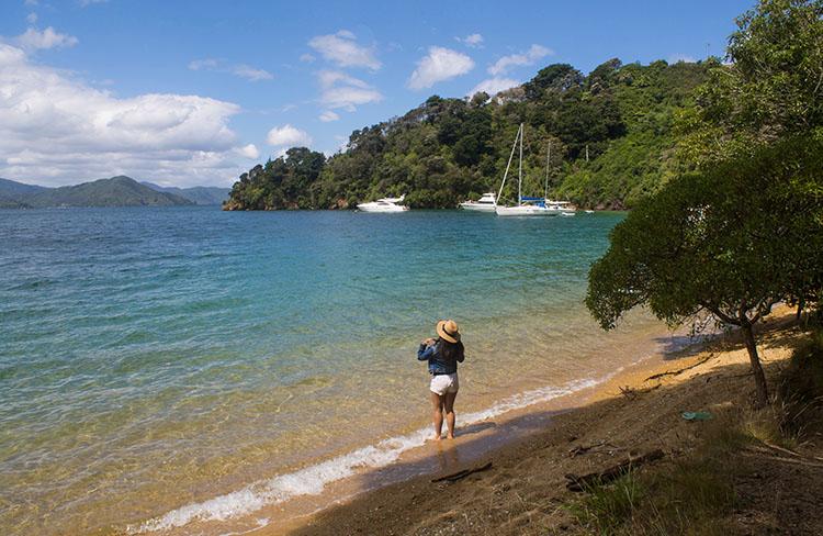 Governors Bay Beach, Marlborough Sounds, New Zealand