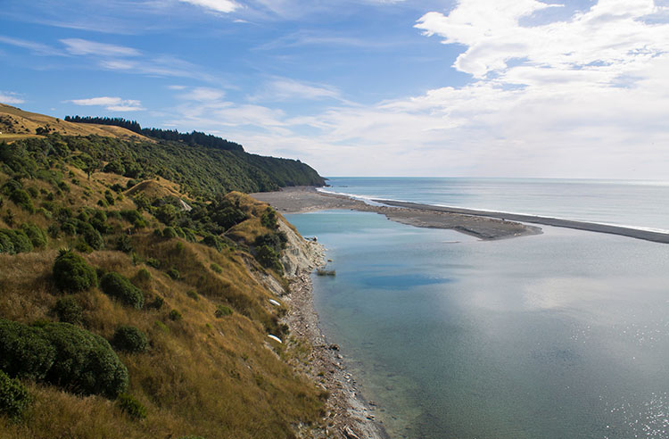 Hurunui Mouth walk to Manuka Bay, North Canterbury, New Zealand