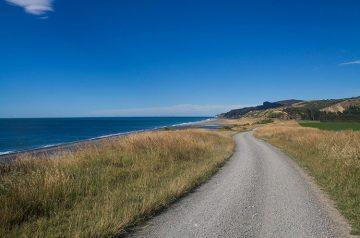 Hurunui Mouth road, North Canterbury, New Zealand