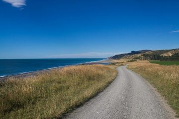 Hurunui Mouth road, North Canterbury, New Zealand