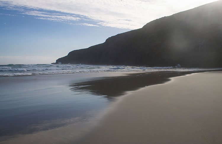 Sandfly Bay Beach near sunset, Dunedin, New Zealand