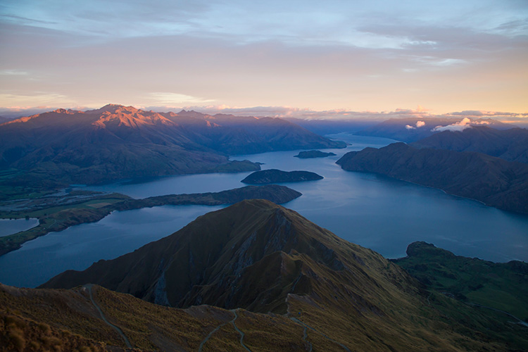 Beautiful view from Roys Peak, Wanaka, New Zealand