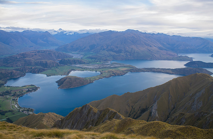 Lake Wanaka and Glendhu Bay from Roys Peak, New Zealand