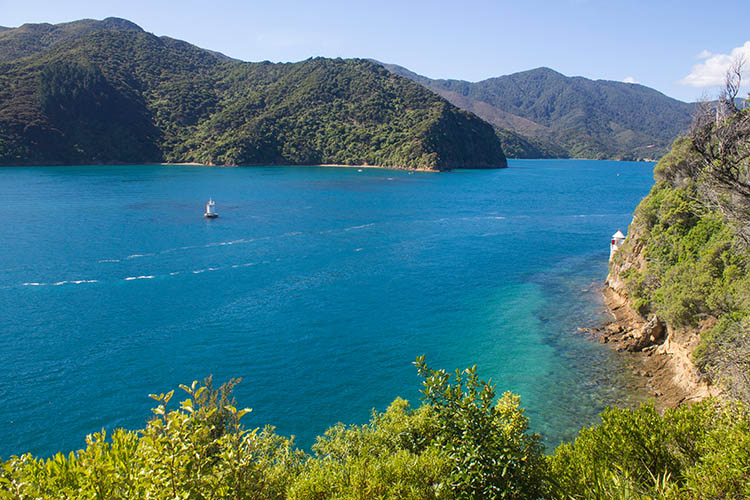 View of French Pass, Marlborough Sounds, New Zealand