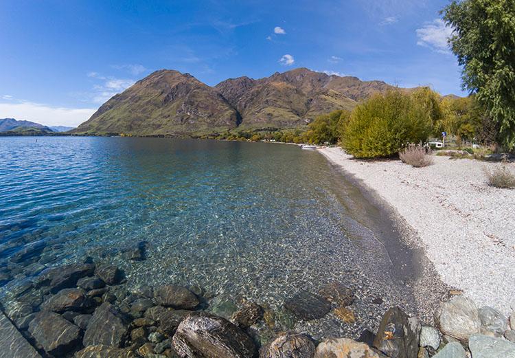 Glendhu Bay, probably the best beach in Wanaka, New Zealand