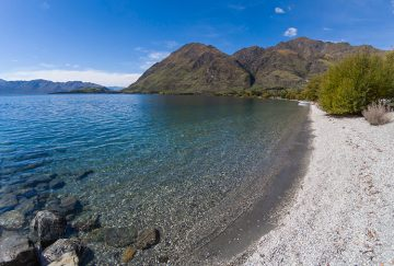 Glendhu Bay, one of the best beaches in Wanaka, New Zealand