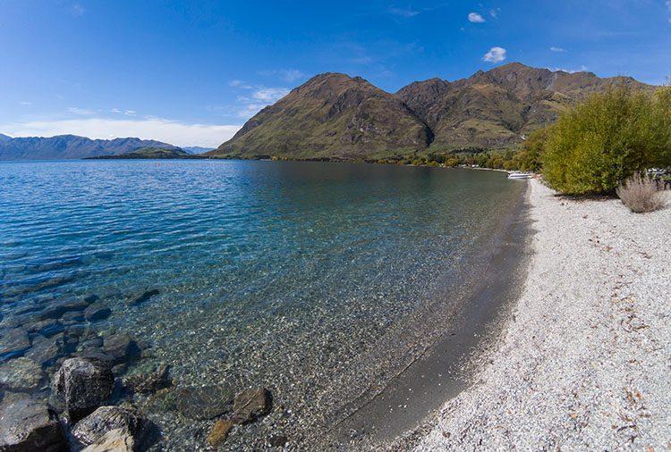 Glendhu Bay, one of the best beaches in Wanaka, New Zealand