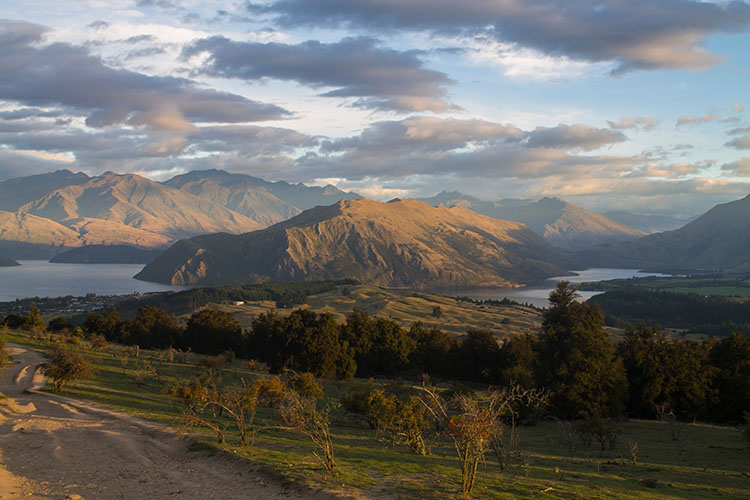 View from the Mount Iron Track, Wanaka, New Zealand