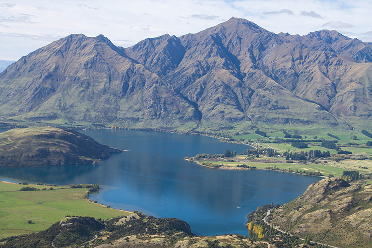 Lake Wanaka view from Rocky Mountain, New Zealand