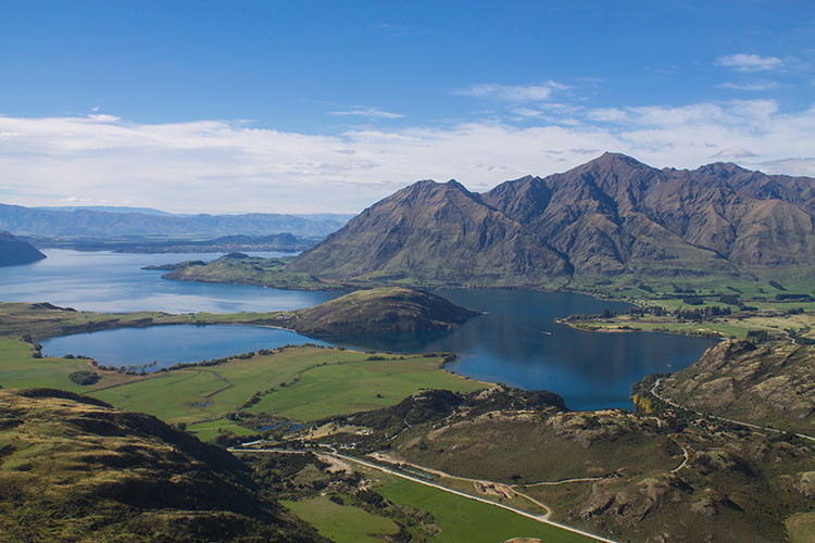The view from the top of Rocky Mountain, Wanaka, New Zealand
