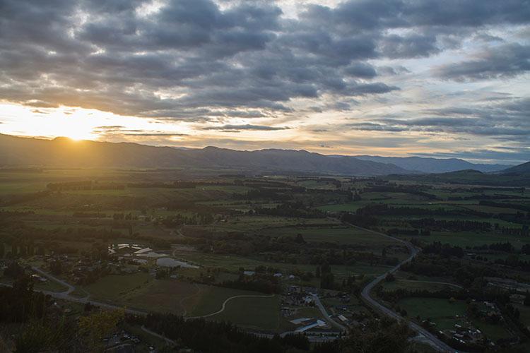 Sunrise at Mount Iron, Wanaka, New Zealand