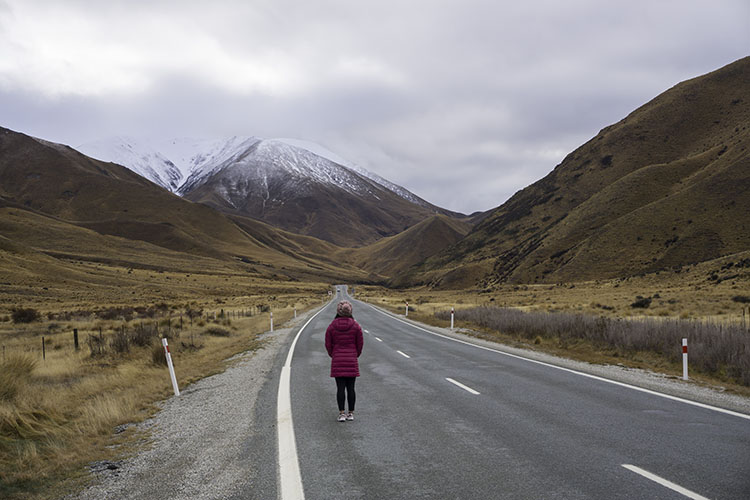 Lindis Pass: A Scenic Stretch of Road Between Queenstown and Mount Cook
