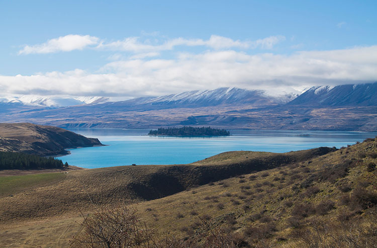 The scenic drive to the top of Mount John, New Zealand