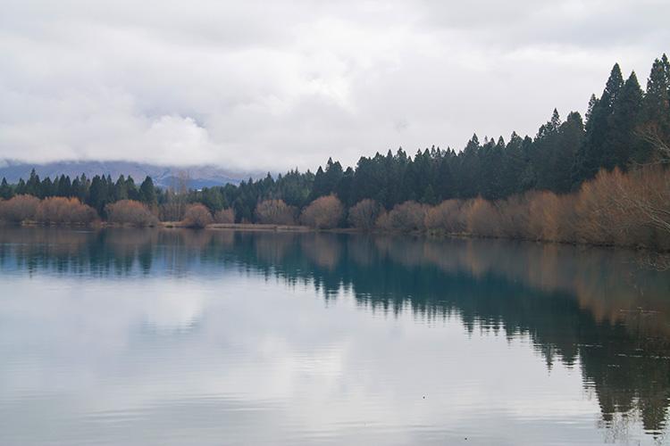 Winter at Lake Ruataniwha, Mackenzie Basin, New Zealand