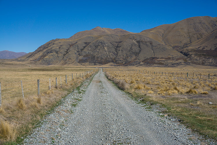 Driving to Lake Emma, Ashburton Lakes, New Zealand