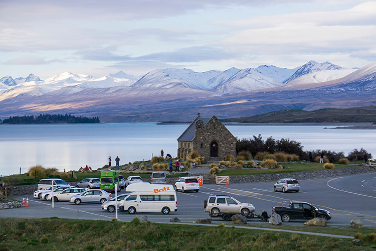 Stunning views in Lake Tekapo, New Zealand