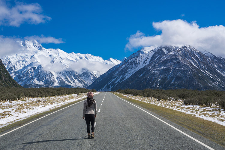 The drive to Mount Cook, New Zealand