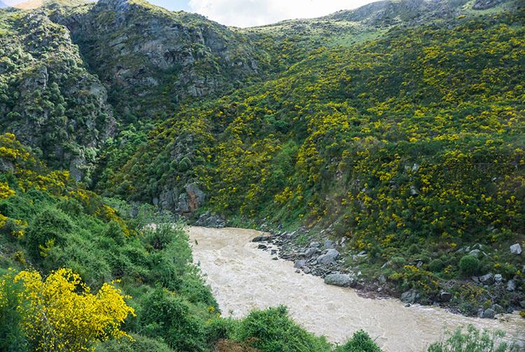 Taieri Gorge Railway -- beautiful Taieri River scenery
