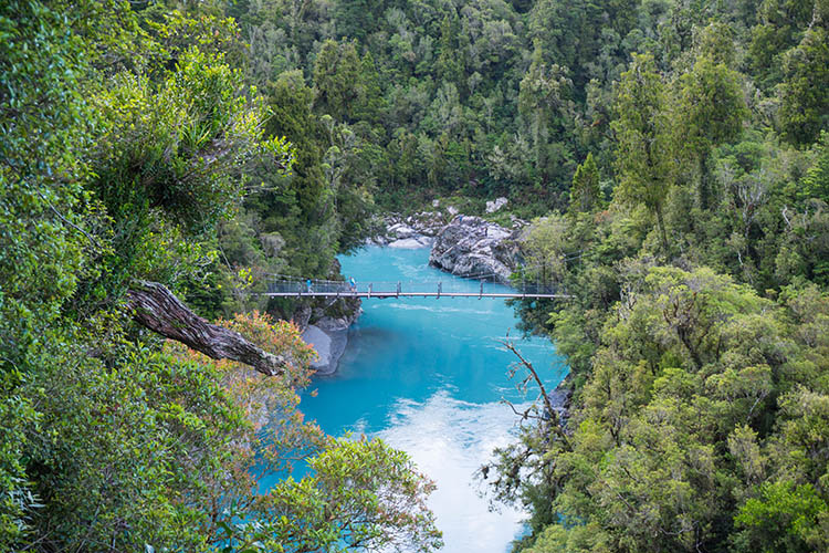 Hokitika Gorge bridge, New Zealand
