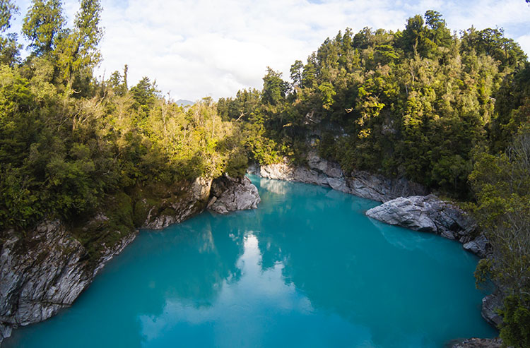 Hokitika Gorge river view, New Zealand