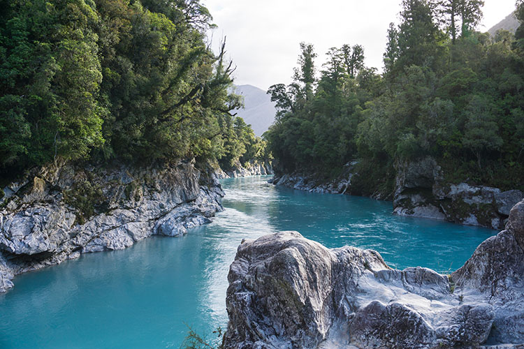 Hokitika Gorge view, West Coast, New Zealand