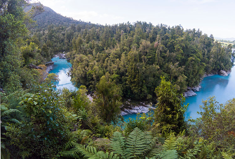 Hokitika Gorge from Above, New Zealand