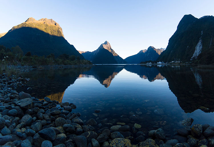 The Milford Sound Foreshore Walk, New Zealand
