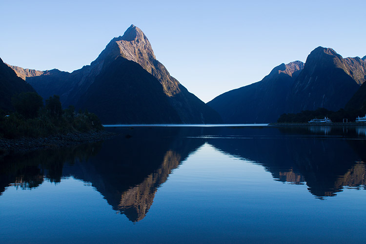 Milford Sound from the Foreshore Walk, Fiordland National Park, New Zealand