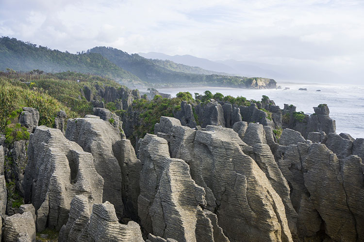Pancake Rocks viewpoint, Punakaiki, New Zealand