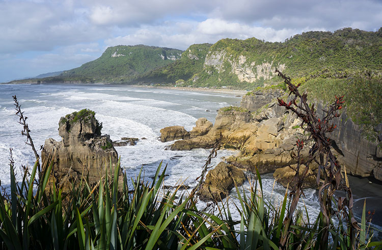 The Pancake Rocks track, Punakaiki, New Zealand