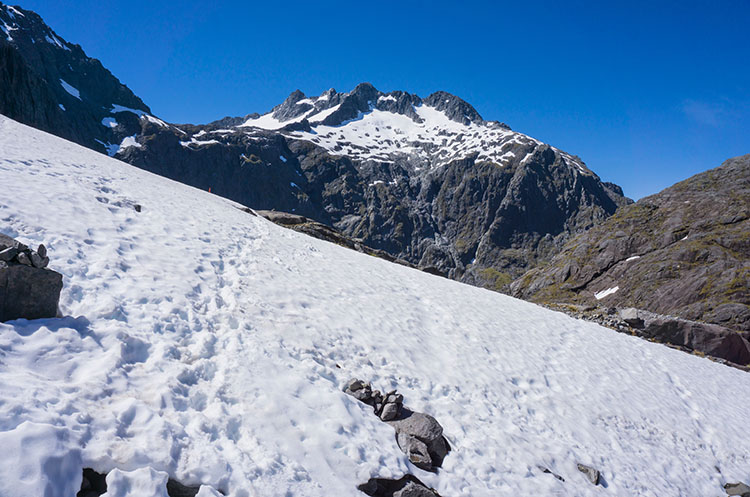 Snow on the Gertrude Saddle Track, New Zealand
