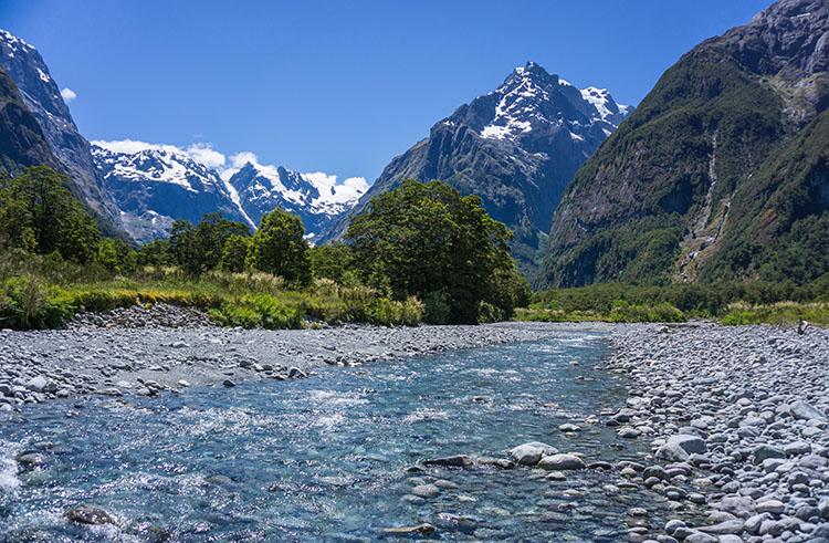 The Tutoko Valley Track, Fiordland National Park, New Zealand