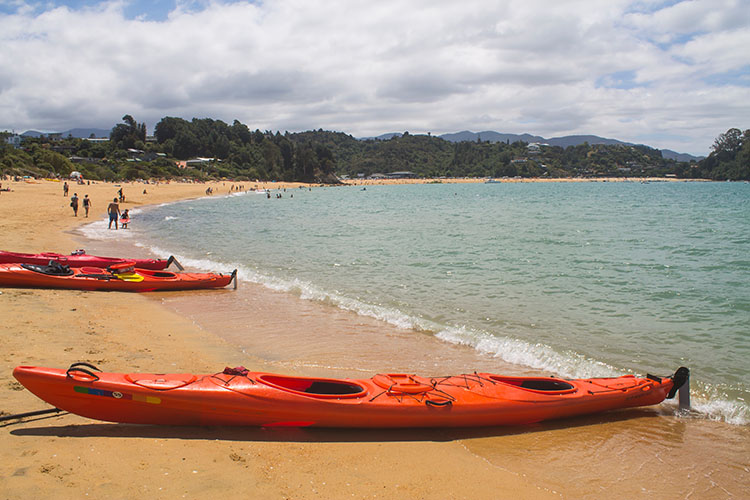 Kayaking at Kaiteriteri Beach, Nelson Tasman, New Zealand