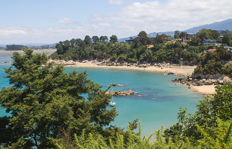 Stunning view of Little Kaiteriteri Beach, Nelson Tasman, New Zealand