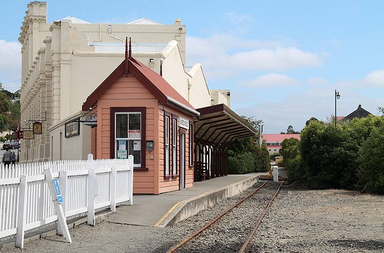 The old train station in Oamaru, New Zealand
