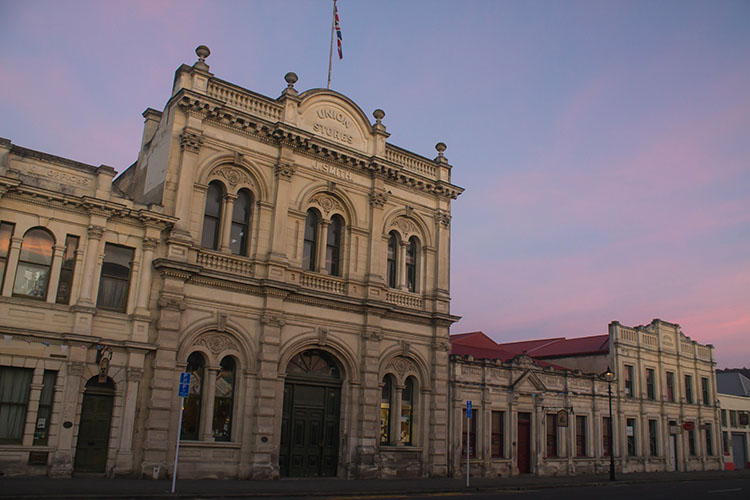 Old buildings in Oamaru, New Zealand