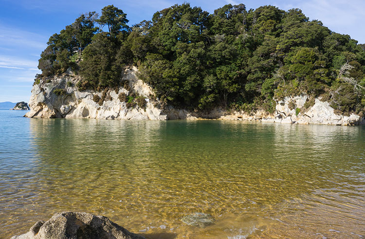 Clear water at Kaiteriteri Beach, Nelson Tasman, New Zealand