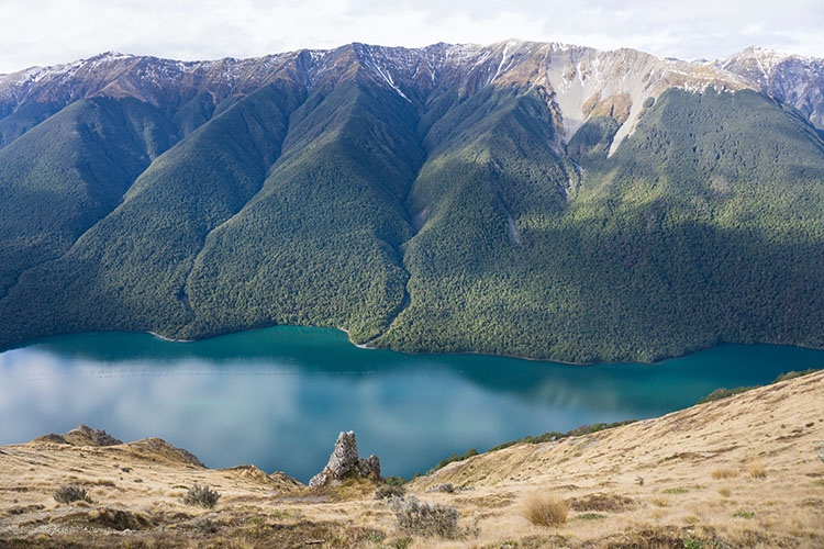 A stunning view from the Mount Robert Circuit Track, Nelson Lakes, New Zealand