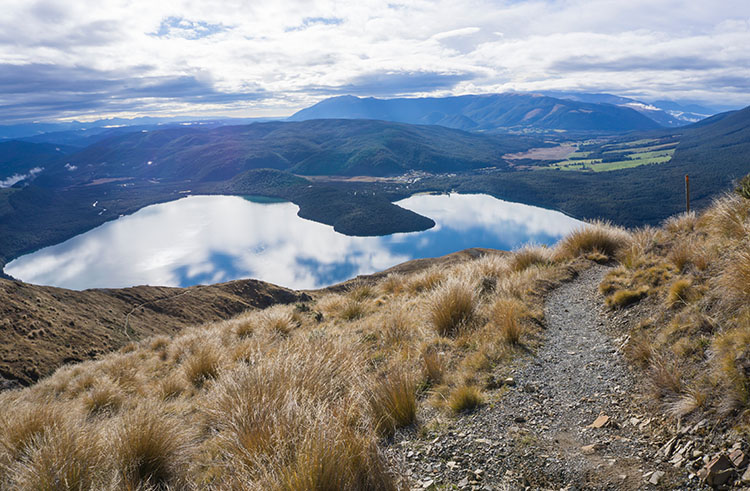 View of Lake Rotoiti from Mount Robert, New Zealand