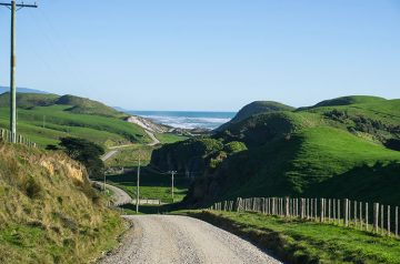 The scenic road to Anatori, New Zealand