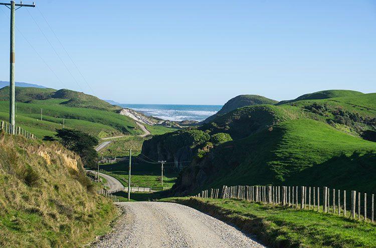 The scenic road to Anatori, New Zealand