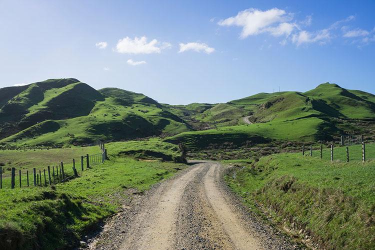 Driving to Anatori, New Zealand