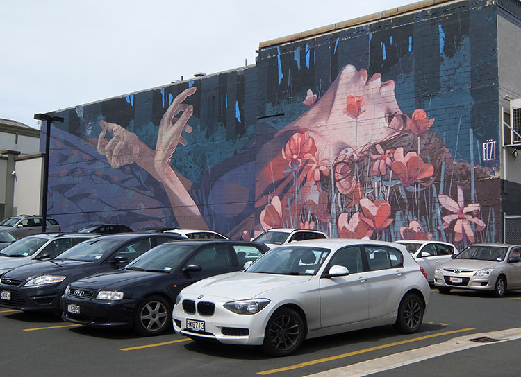 Searching for street art -- one of the best things to do in Dunedin, New Zealand