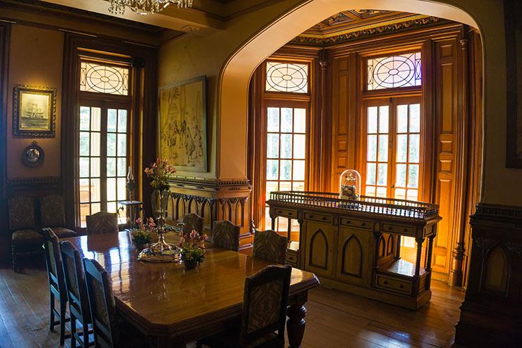 A dining room in Larnach Castle, Dunedin, New Zealand