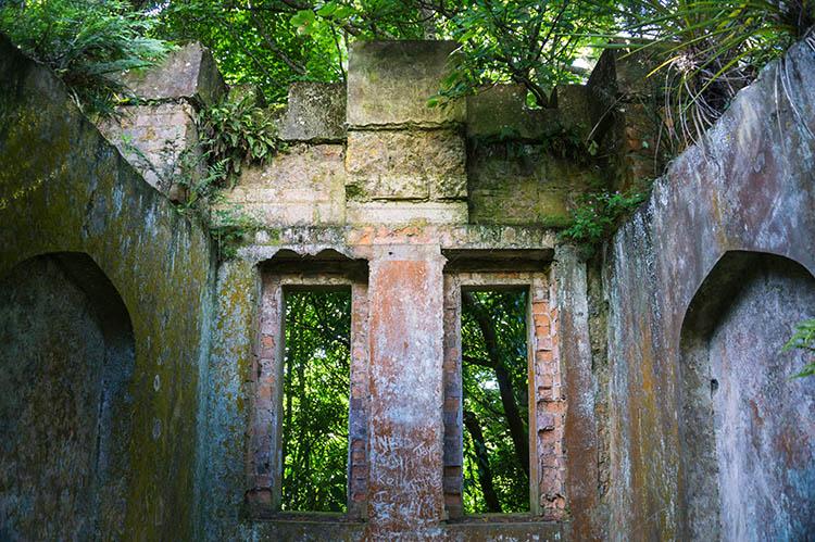 Ruins at Larnach Castle, Dunedin, New Zealand