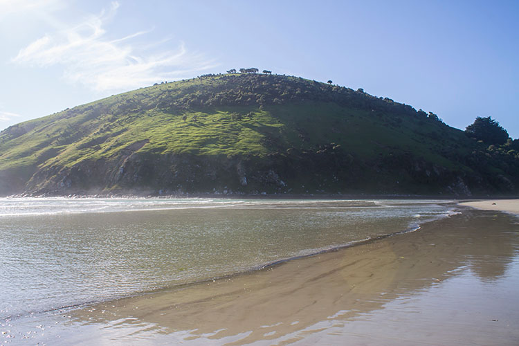 Early morning light at Purakaunui Beach, Dunedin, New Zealand